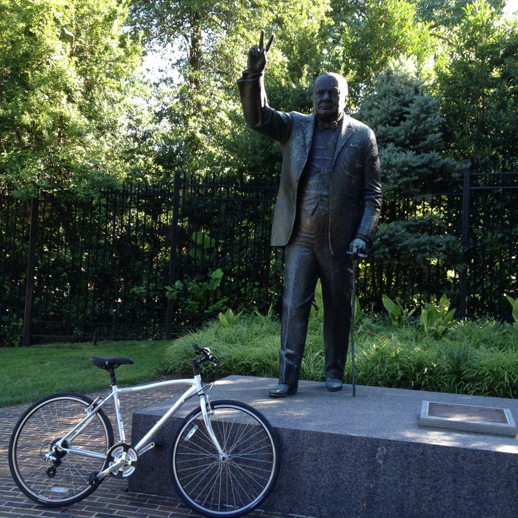 Statue of Winston Churchill in Washington, DC