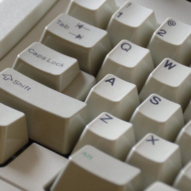 Close up of IBM keyboard