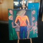 """Painting: """"Skinny Genes"""" by Regina Holliday for Stanford Medicine X"""