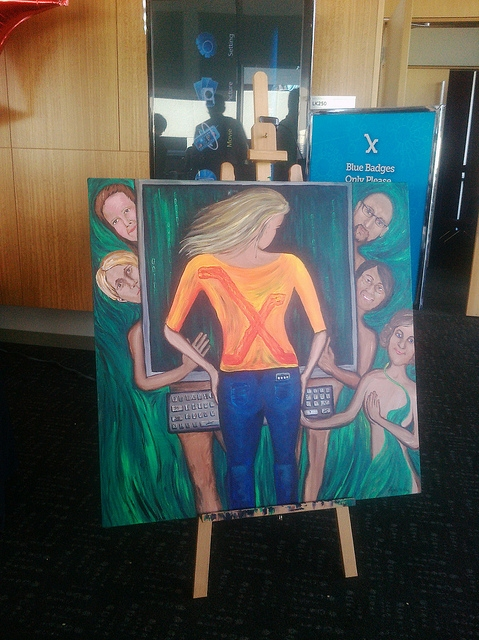 "Painting: ""Skinny Genes"" by Regina Holliday for Stanford Medicine X"