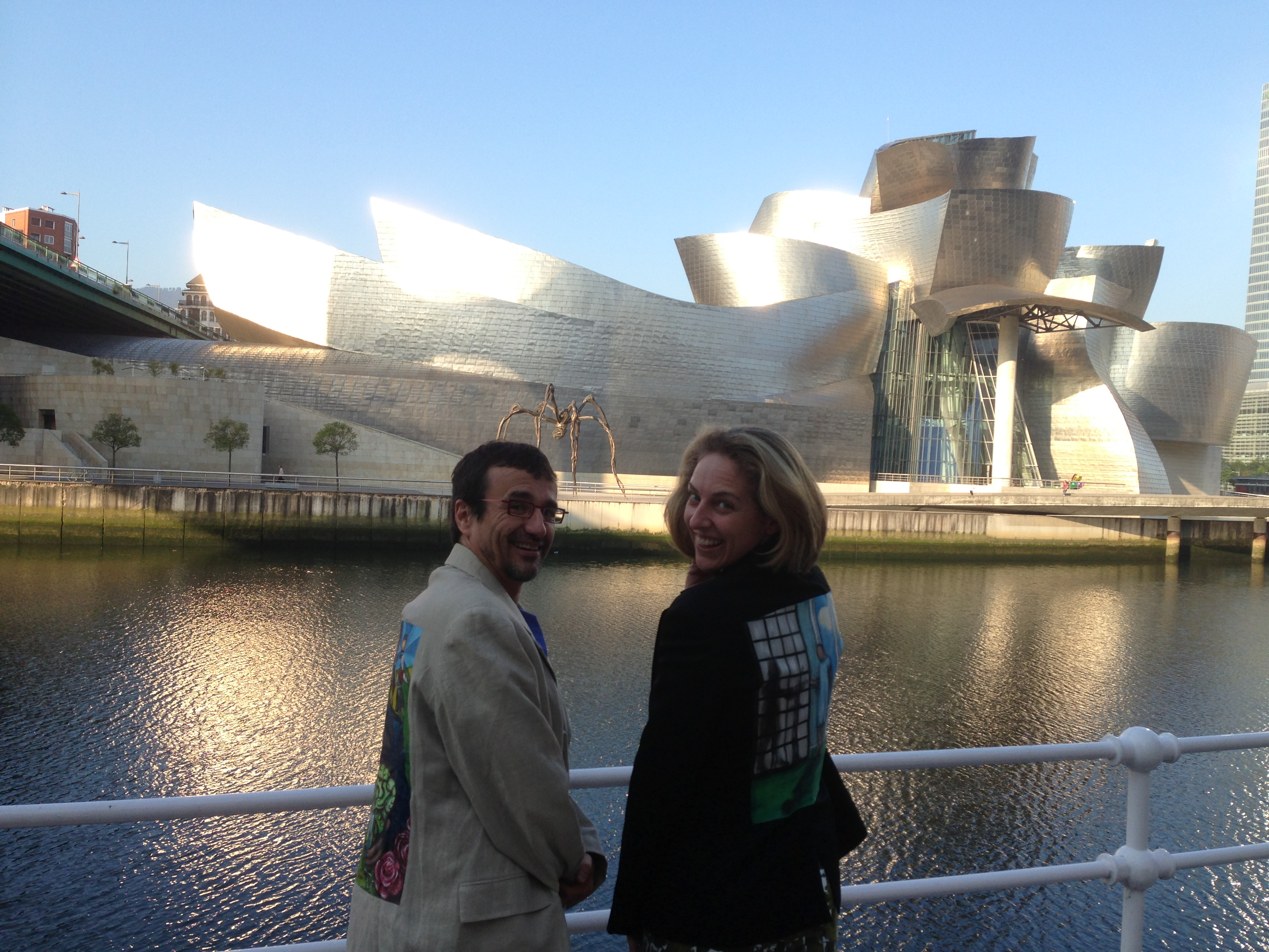 Bacigalupe and I at the Guggenheim Bilbao
