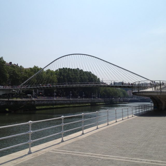 Campo Volantin footbridge in Bilbao