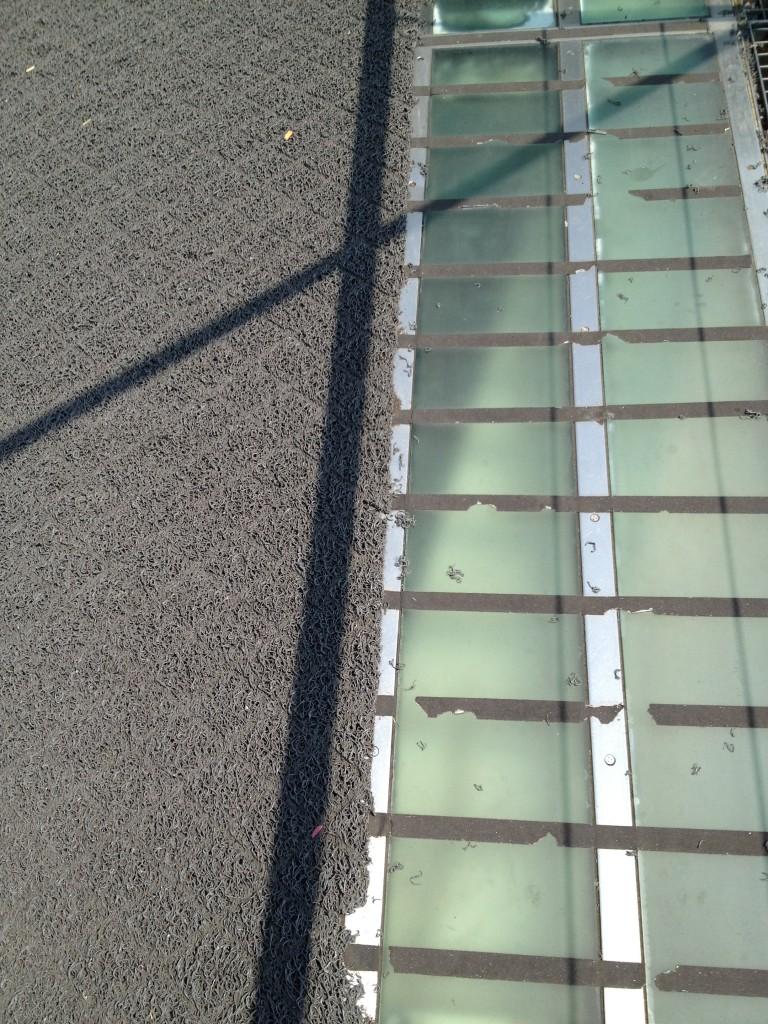 Floor of the Campo Volantin footbridge in Bilbao