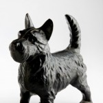 Cast-iron Scottie dog door stop