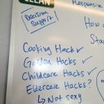 Cooking, garden, childcare hacks - why not eldercare hacks?