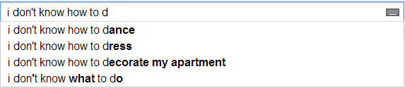 Google Poetics: I don't know how to...
