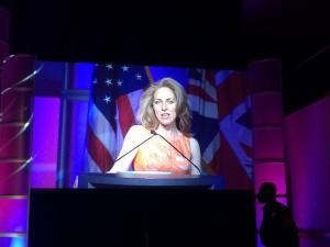 Susannah Fox on screen at the Datapalooza - Photo by @CarlyRM