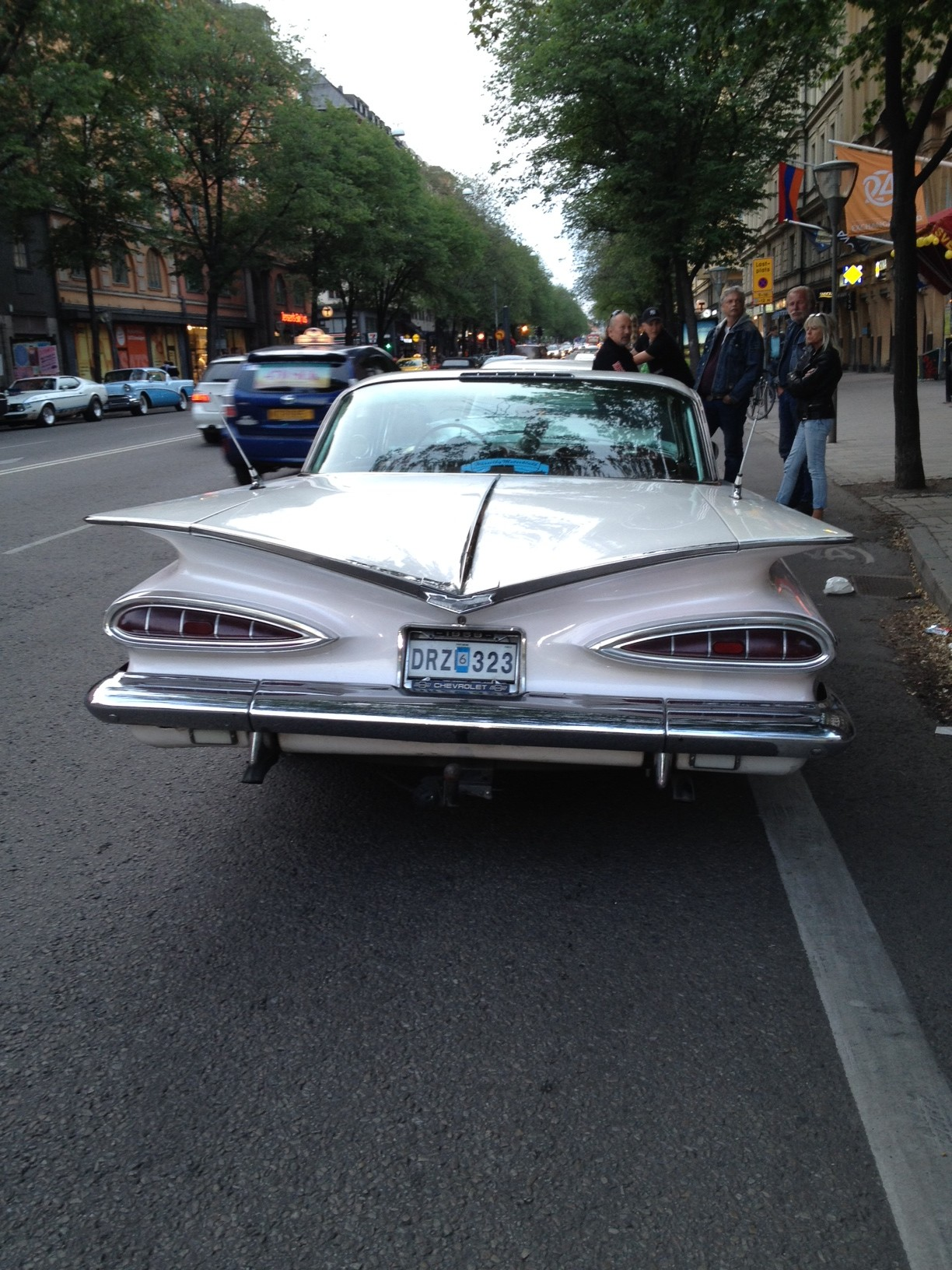 Vintage American car in Stockholm