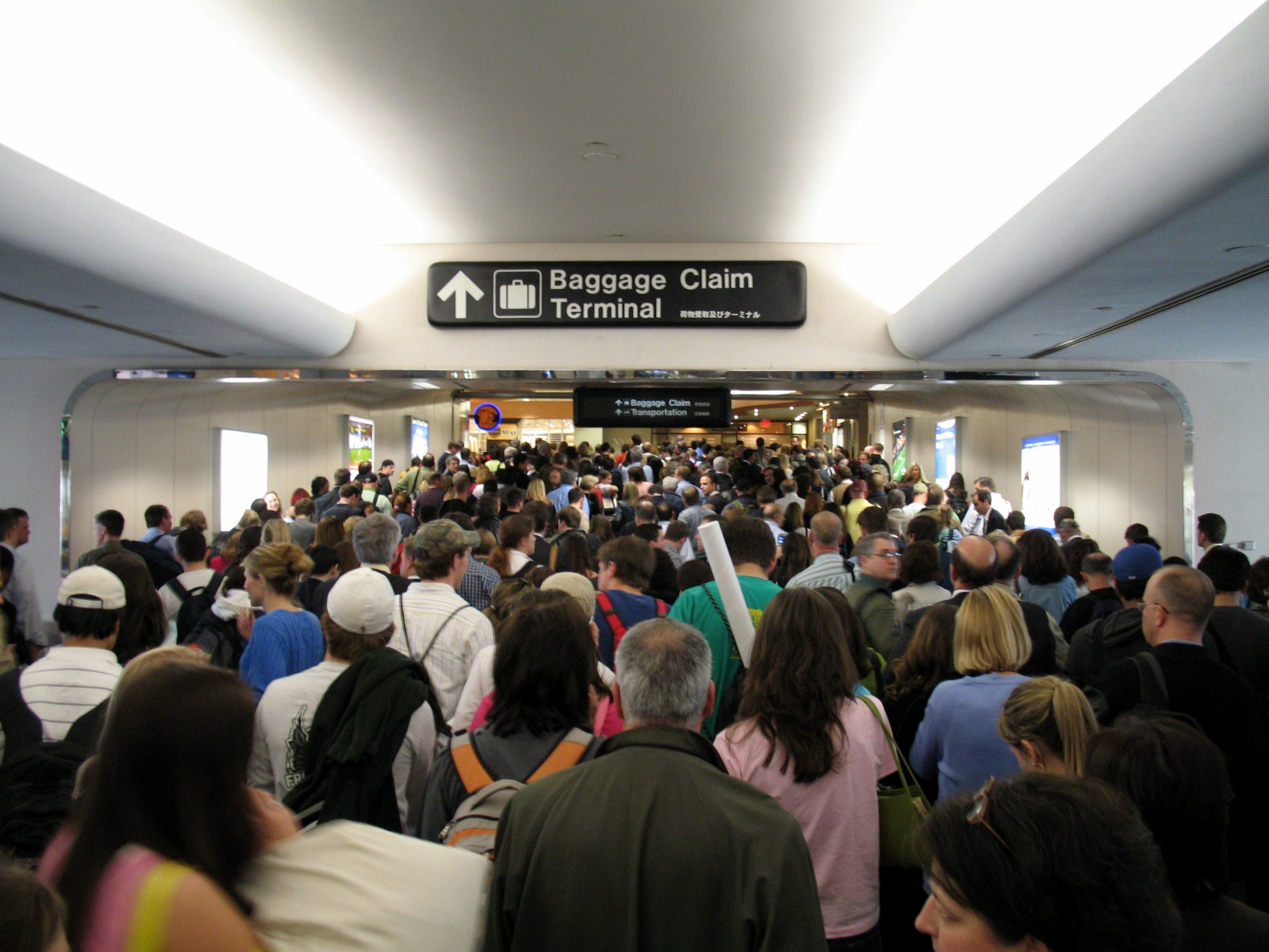 Crowd at airport