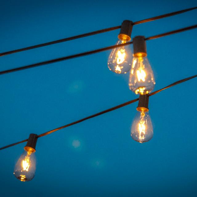 Light bulbs in the night sky - a photo by Ted Eytan