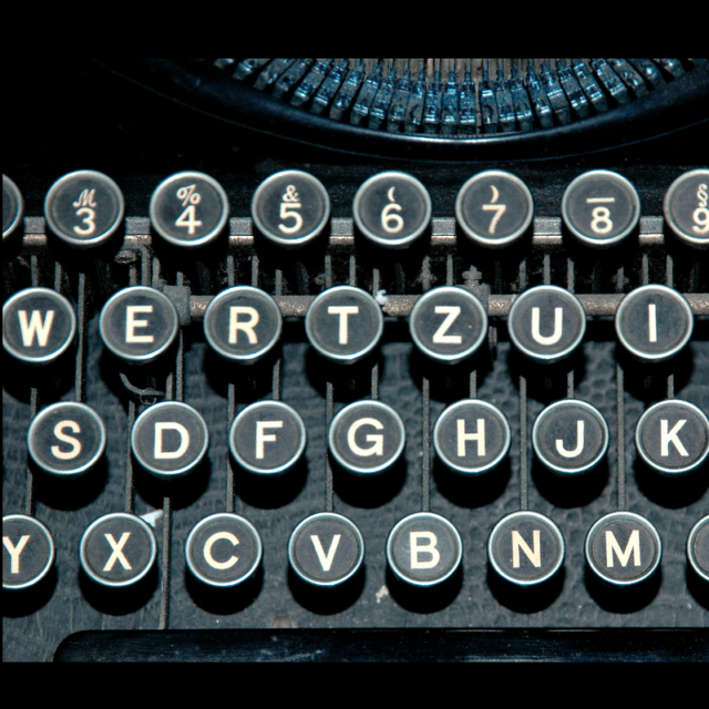 Early 20th century typewriter keys