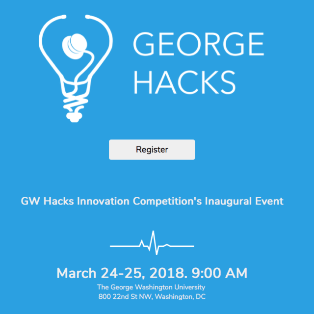 A drawing of a lightbulb with a stethoscope appears next to the words George Hacks