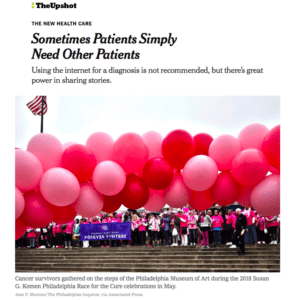 """The New York Times: """"Sometimes Patients Simply Need Other Patients"""""""