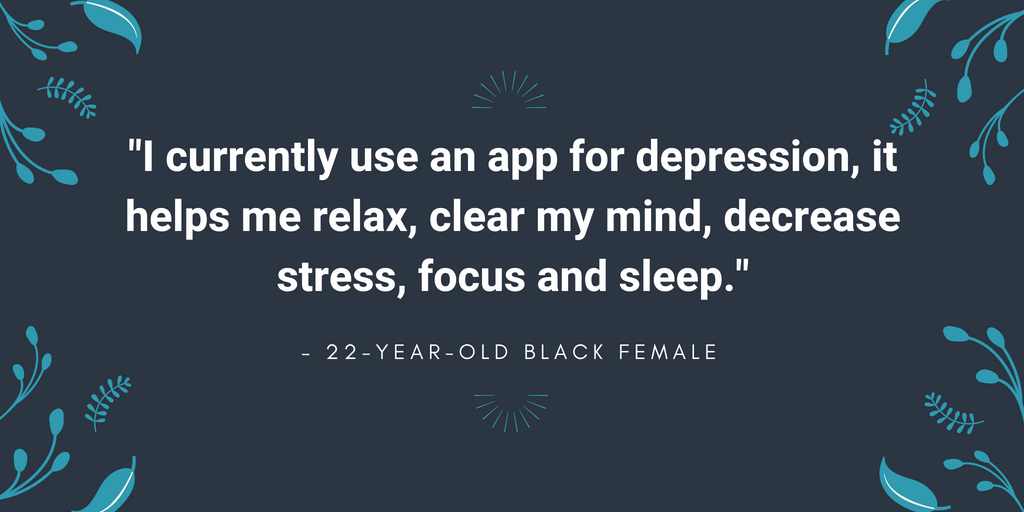 I use an app for depression
