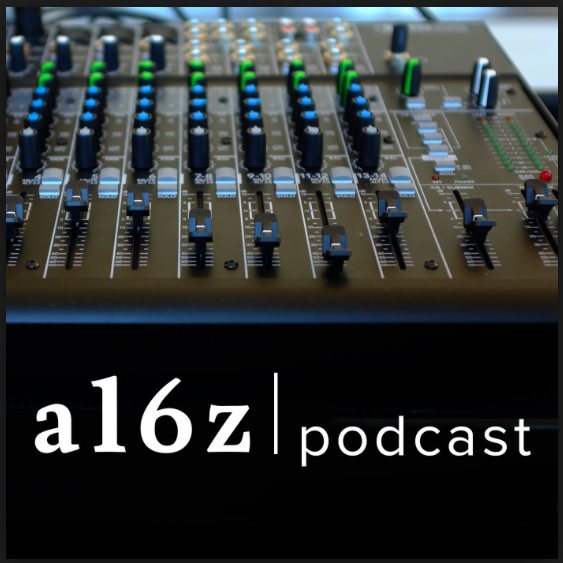 "Image of a sound board with the words ""a16z podcast"""