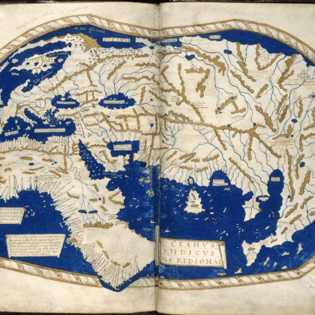 1490 map of the world by Henricus Marcellus shows great detail for Europe but only a rough idea of Africa and Asia
