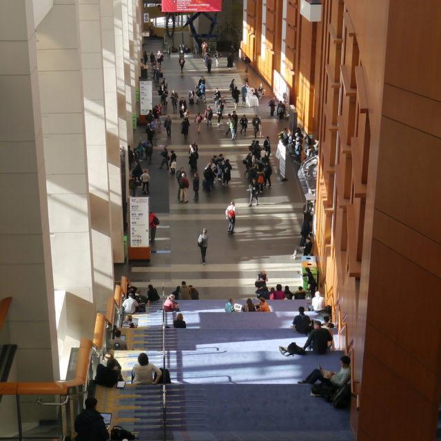 Huge conference hallway
