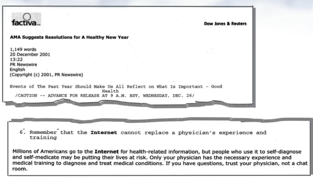 American Medical Association press release