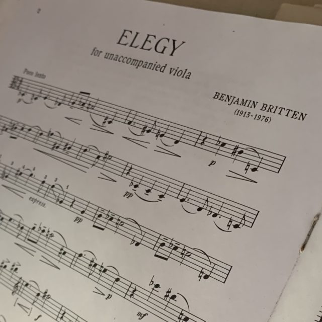 Elegy for unaccompanied viola, by Benjamin Britten