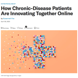 Screenshot of Harvard Business Review article about how chronic disease patients are innovating together online
