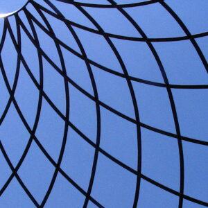 Safety net against a blue sky